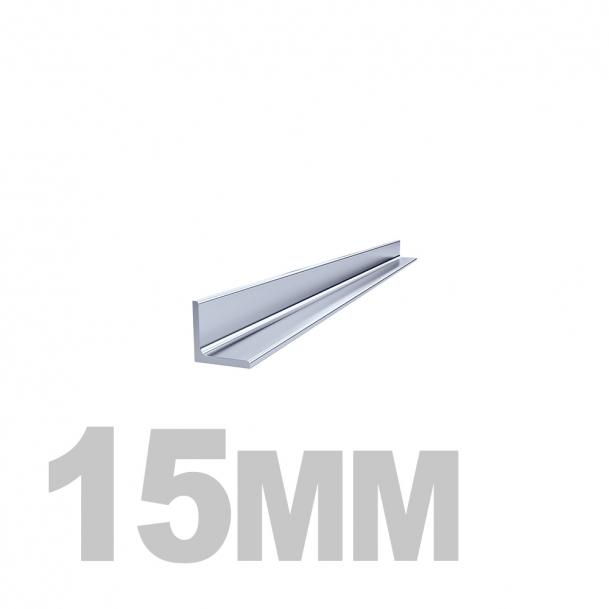 Уголок нержавеющий (15мм x 15мм x 3мм) AISI 304 г/к (l=6м)