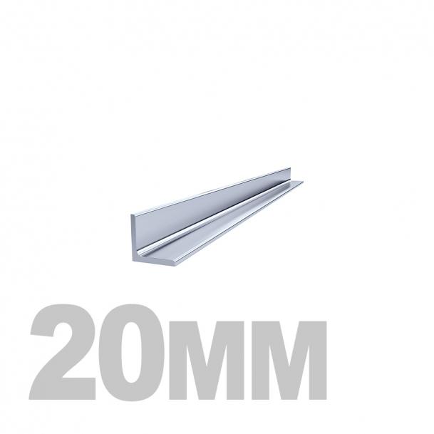 Уголок нержавеющий (20мм x 20мм x 1мм) AISI 304 (l=3м) зерк./пл.