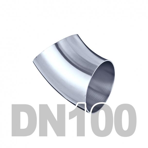 Отвод нержавеющий 45 12Х18Н10Т (108мм x 6мм) ГОСТ 17375