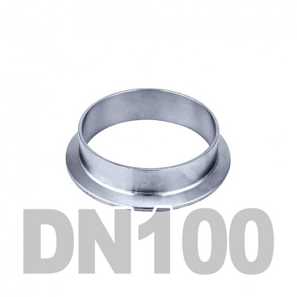 Фланцевая нержавеющая отбортовка DN100 AISI 316 (114.3мм x 2мм)