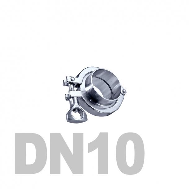 Соединение  «КЛАМП» нержавеющее в сборе DN10 AISI 316 (13мм) (приварной патрубок. уплотнительное кольцо EPDM. хомут)