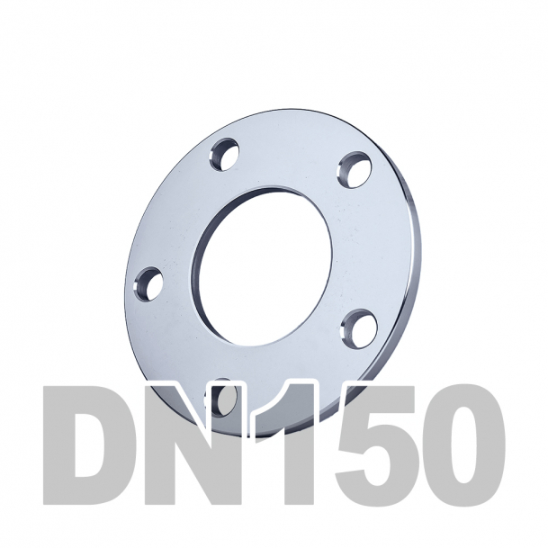 Фланец плоский нержавеющий DN150 AISI 316 PN16 (168.3мм) DIN2577