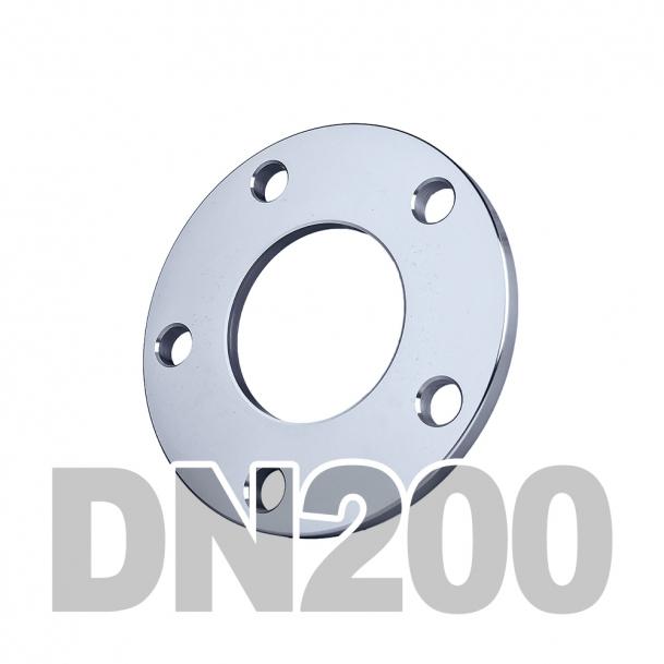 Фланец плоский нержавеющий DN200 AISI 304 PN10 (204мм) DIN2576