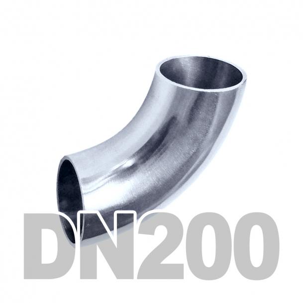 Отвод нержавеющий DN200 AISI 316 (219.1мм x 3мм)