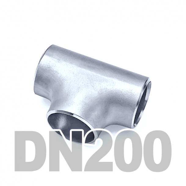 Тройник приварной нержавеющий DN200 AISI 316 (219.1мм x 3мм)