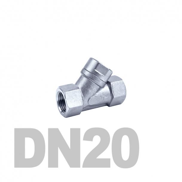 """Фильтр угловой муфтовый нержавеющий вр-вр DN20 AISI 316 (3/4""""   26.9мм)"""