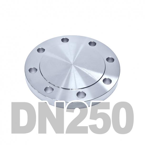 Фланцевая заглушка нержавеющая DN250 AISI 304 PN16 (254мм) DIN2527
