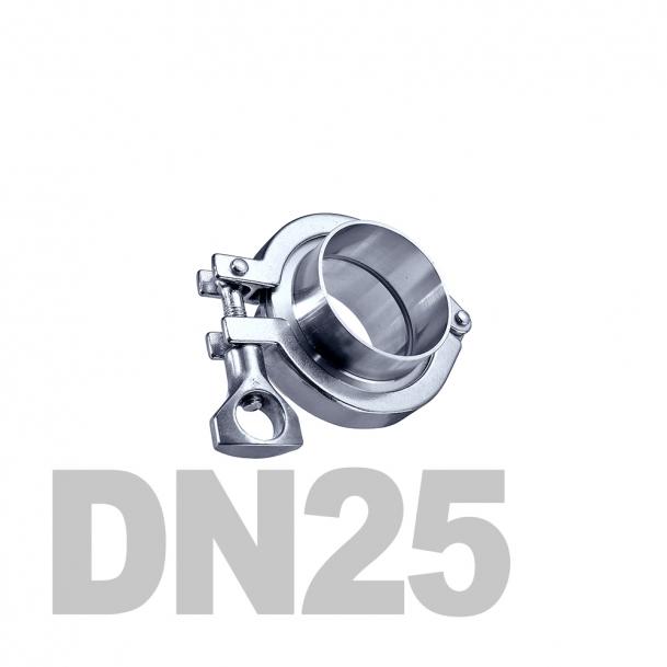 Соединение  «КЛАМП» нержавеющее в сборе DN25 AISI 304 (29мм) (приварной патрубок. уплотнительное кольцо EPDM. хомут)