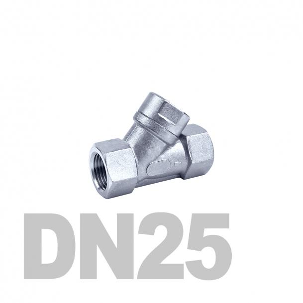 """Фильтр угловой муфтовый нержавеющий вр-вр DN25 AISI 316 (1""""   33.7мм)"""