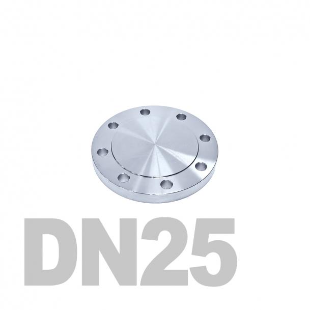 Фланцевая заглушка нержавеющая DN25 AISI 316 PN16 (29мм) DIN2527