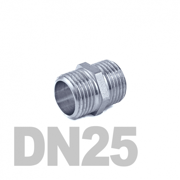 "Ниппель нержавеющий двойной нр-нр DN25 AISI 316 (1""   33.7мм)"