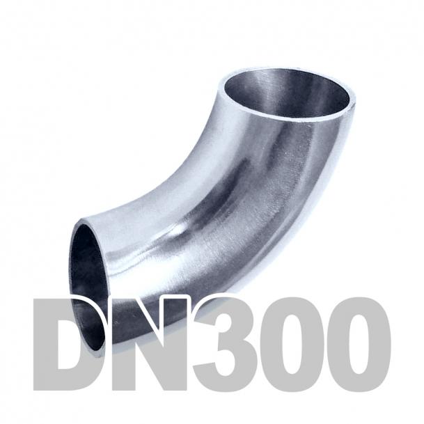 Отвод нержавеющий DN300 AISI 316 (323.9мм x 3мм)