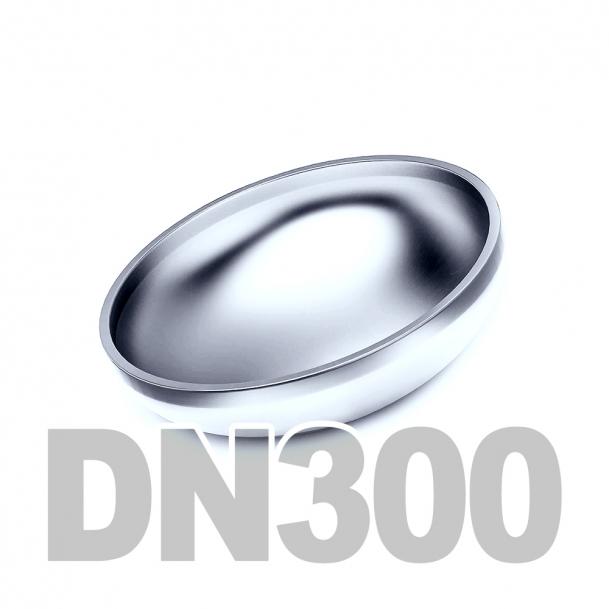 Заглушка эллиптическая нержавеющая приварная DN300 AISI 304 (323.9мм x 3мм)
