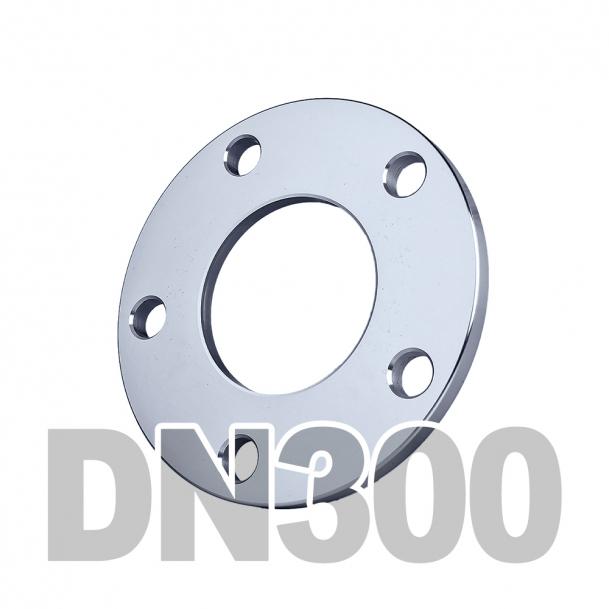 Фланец плоский нержавеющий DN300 AISI 304 PN16 (323.9мм) DIN2577