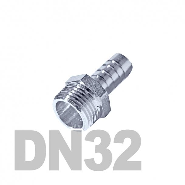 """Штуцер нержавеющий шланговый нр DN32 AISI 316 (1 1/4"""" x 32мм)"""