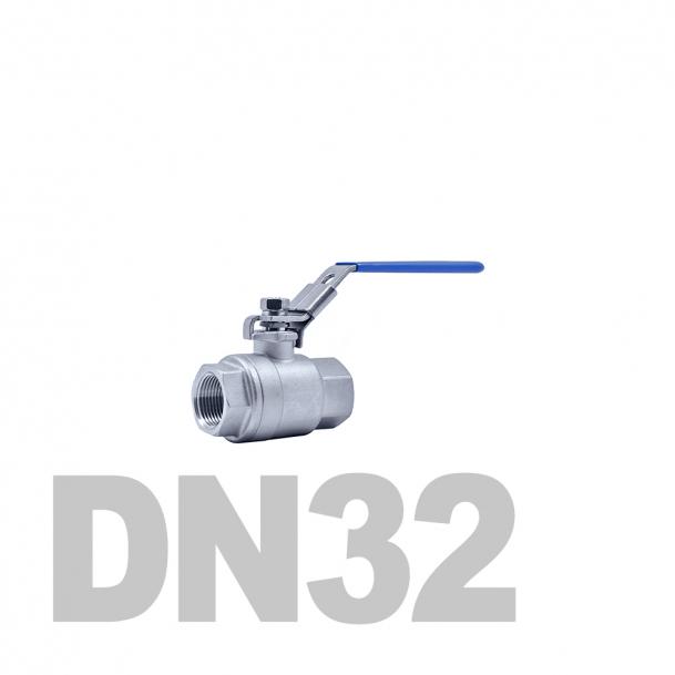 """Кран нержавеющий шаровой полнопроходной вр-вр DN32 AISI 316 (1 1/4""""   42.4мм)"""