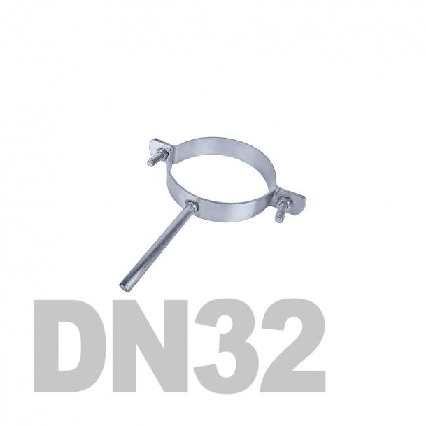 Хомут трубный на ножке нержавеющий DN32 AISI 304 (42.4мм x 2мм)