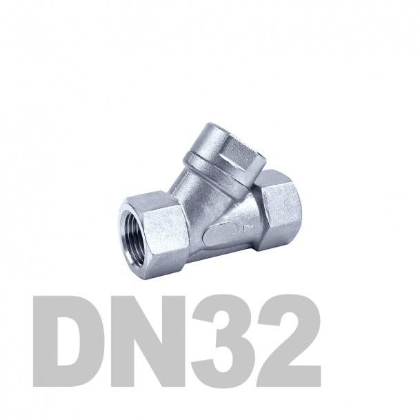 """Фильтр угловой муфтовый нержавеющий вр-вр DN32 AISI 316 (1 1/4""""   42.4мм)"""