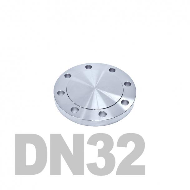 Фланцевая заглушка нержавеющая DN32 AISI 304 PN16 (34мм) DIN2527