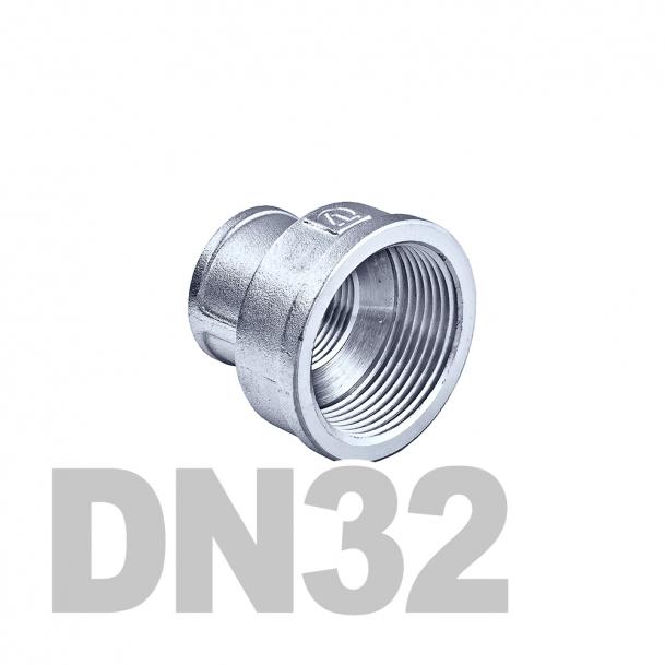 "Муфта нержавеющая переходная вр-вр DN32 x DN25 AISI 304 (1 1/4"" x 1"" | 42.4мм x 33.7мм)"