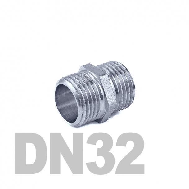 "Ниппель нержавеющий двойной нр-нр DN32 AISI 316 (1 1/4""   42.4мм)"