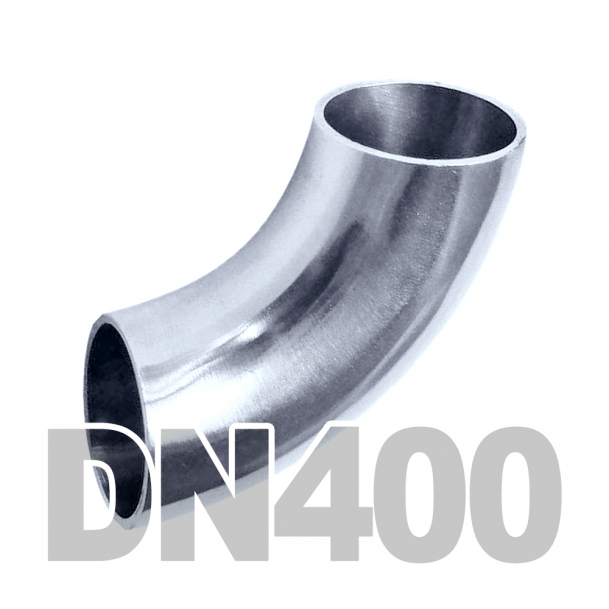 Отвод нержавеющий DN400 AISI 316 (406.4мм x 3мм)