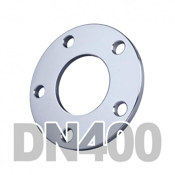 Фланец плоский нержавеющий DN400 AISI 304 PN16 (406.4мм) DIN2577