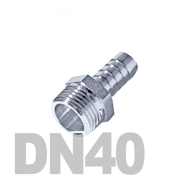 """Штуцер нержавеющий шланговый нр DN40 AISI 316 (1 1/2"""" x 40мм)"""