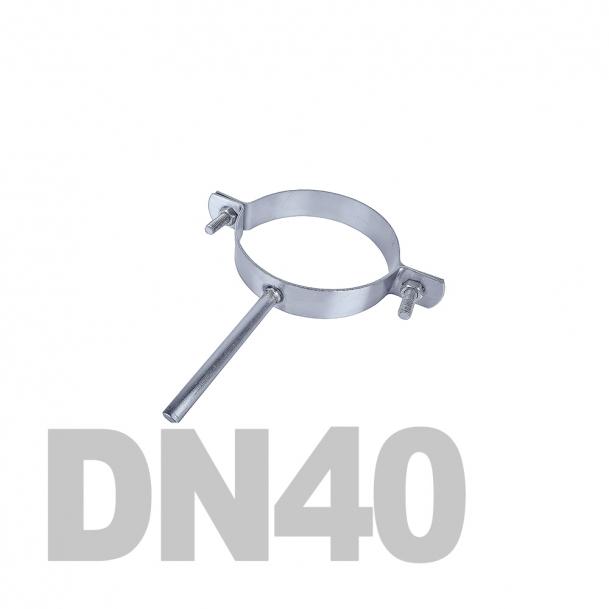 Хомут трубный на ножке нержавеющий DN40 AISI 304 (48.3мм x 2мм)
