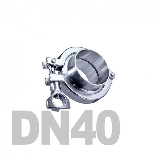 Соединение  «КЛАМП» нержавеющее в сборе DN40 AISI 304 (41мм) (приварной патрубок. уплотнительное кольцо EPDM. хомут)