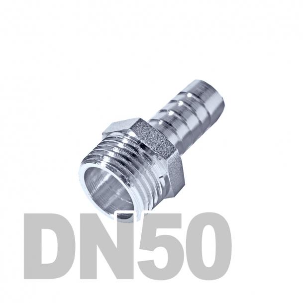 """Штуцер нержавеющий шланговый нр DN50 AISI 316 (2"""" x 50мм)"""