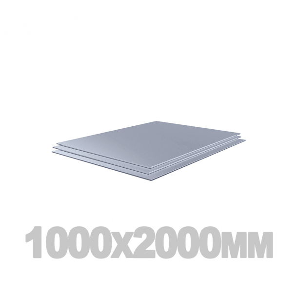 Лист нержавеющий (1000мм x 2000мм x 0.4мм) AISI 304 г/к