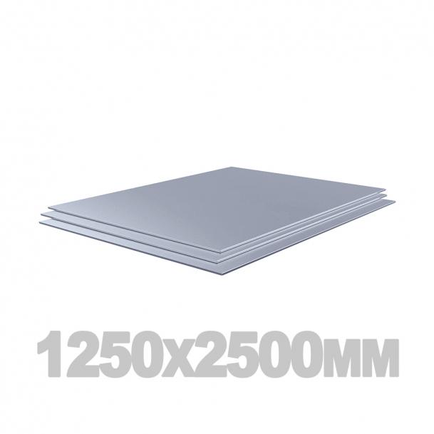 Лист нержавеющий (1250мм x 2500мм x 6мм) AISI 321 зерк./пл.