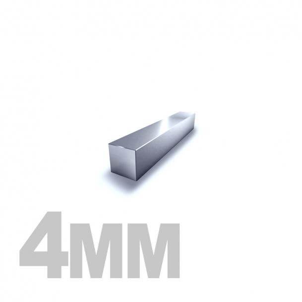 Квадрат калиброванный нержавеющий 4мм AISI 304 (h11)