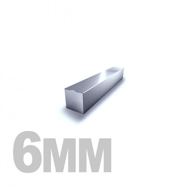 Квадрат калиброванный нержавеющий 6мм AISI 304 (h11)