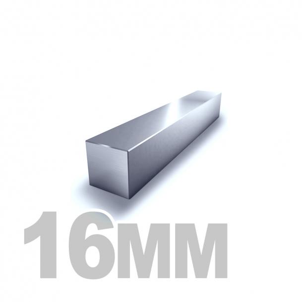 Квадрат калиброванный нержавеющий 16мм AISI 304 (h11)