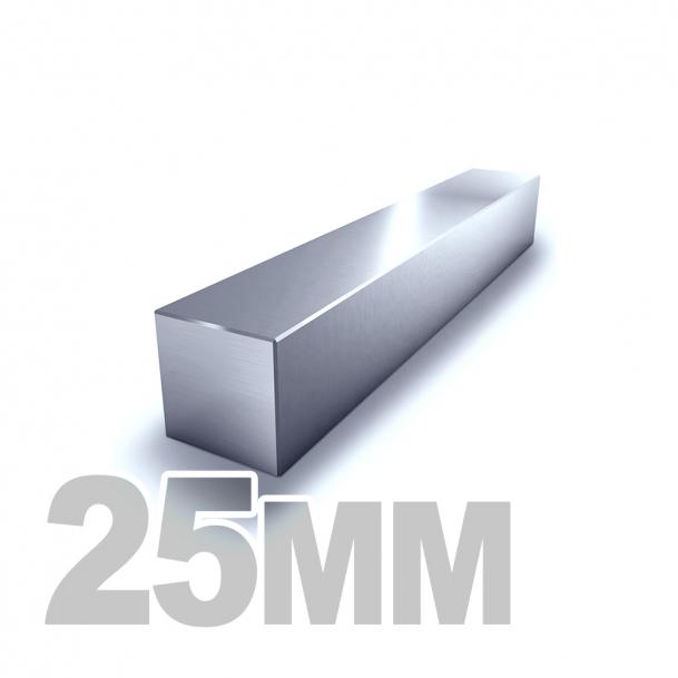 Квадрат калиброванный нержавеющий 25мм AISI 304 (h11)