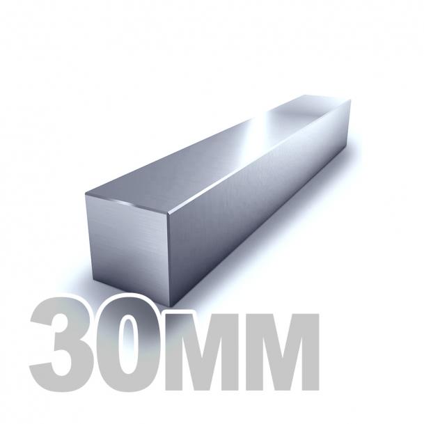 Квадрат калиброванный нержавеющий 30мм AISI 304 (h11)