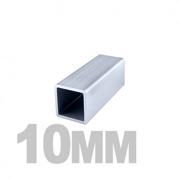 Труба квадратная нержавеющая (10мм x 10мм x 1мм) AISI 304