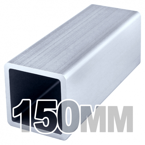 Труба квадратная нержавеющая (150мм x 150мм x 4мм) AISI 304