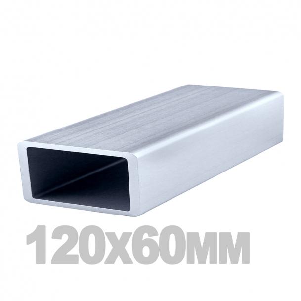 Труба прямоугольная нержавеющая (120мм x 60мм x 3мм) AISI 304