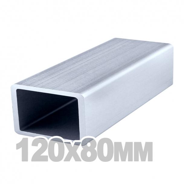 Труба прямоугольная нержавеющая (120мм x 80мм x 2мм) AISI 304