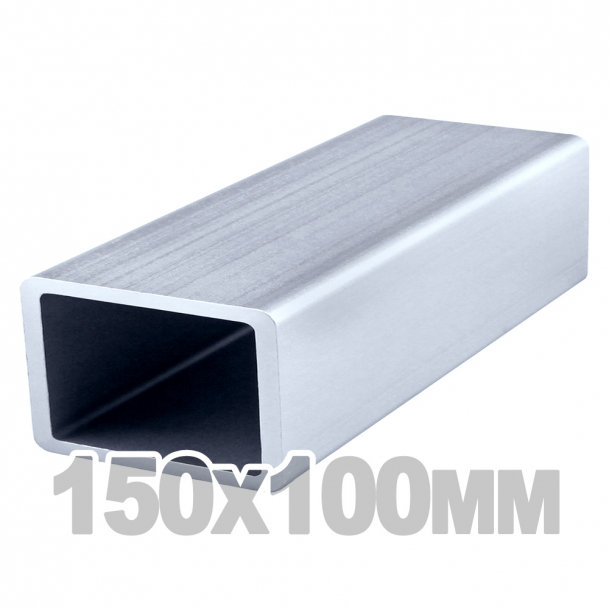 Труба прямоугольная нержавеющая (150мм x 100мм x 3мм) AISI 304