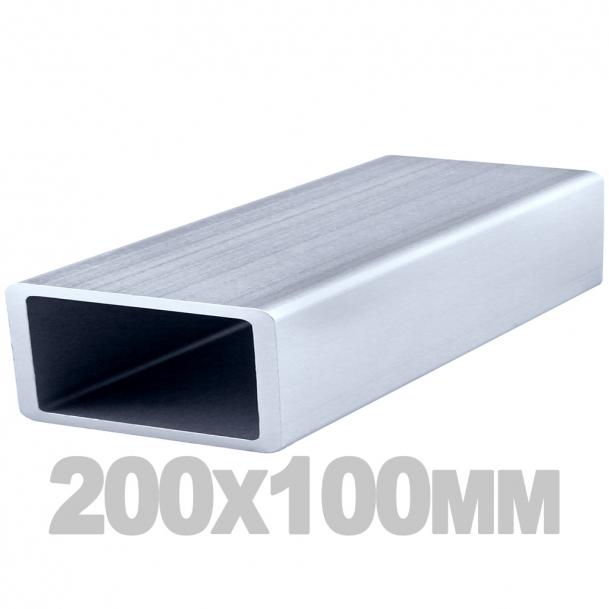 Труба прямоугольная нержавеющая (200мм x 100мм x 3мм) AISI 304